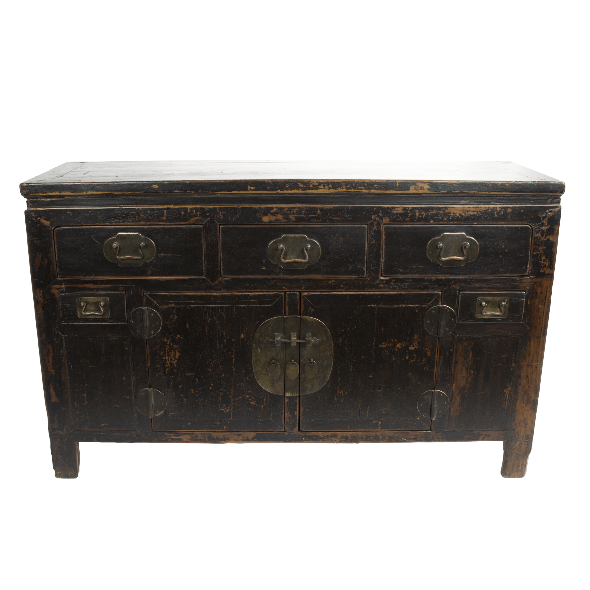 Asia Sideboard Distressed Asian Sideboard In Black Chairish