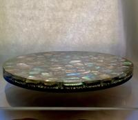Mid-Century Modern Lucite & Abalone Shell Lazy Susan Tray ...
