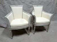 Swedish High Back Barrel Club Chairs - A Pair | Chairish