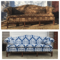 Ikat Anthropologie-Style Sofa | Chairish