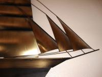 Mid-Century Modern Curtis Jere Metal Ship Wall Sculpture ...