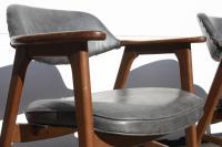 1970s Swedish MCM Mahogany Barrel Chairs - 8 | Chairish