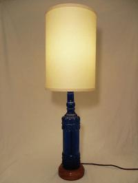 Custom Glass Bottle Table Lamp | Chairish