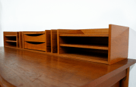 Georg Petersen Danish Modern Teak Desk Organizer | Chairish