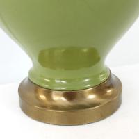 Mid-Century Asian Green Ginger Jar Lamp   Chairish