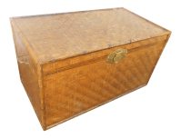 Extra Large Bamboo & Herringbone Woven Wicker Trunk or ...