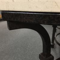 Kolkka Furniture Wrought Iron & Marble Coffee Table   Chairish