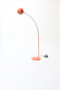 Vintage Orange Arc Lamp | Chairish