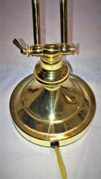 Vintage Brass Foldable Piano Lamp | Chairish