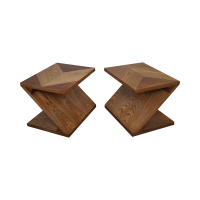 Lane Mid-Century Modern Z End Tables | Chairish
