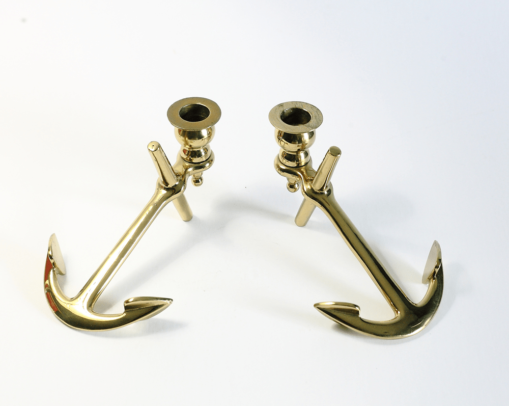 Brass Anchor Candle Holders