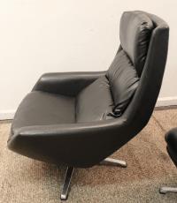 Mid-Century Overman Lounge Chair & Ottoman Set | Chairish
