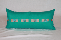 Aqua Blue Lumbar Pillow | Chairish