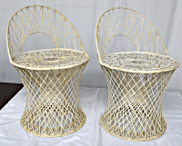 Russell Woodard Spun Fiberglass Chairs - a Pair | Chairish