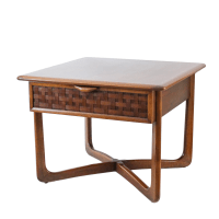 Mid-Century Lane Perception X-Base End Table | Chairish