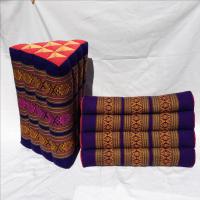 Bohemian Tapestry Triangle Floor Pillows - Pair   Chairish