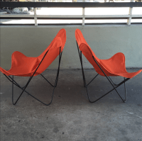 Mid-Century Modern Butterfly Chairs - A Pair | Chairish