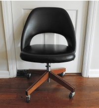 Vintage Saarinen for Knoll Swivel Desk Chair | Chairish