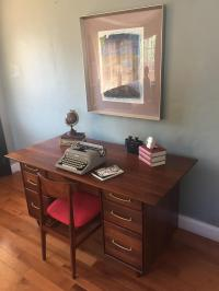 Mid-Century Modern Walnut Executive Desk & Chair - A Pair ...