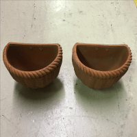 Italian Terra Cotta Wall Pocket Planters - A Pair | Chairish