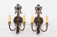 French Bronze Art Nouveau Sconces - A Pair   Chairish