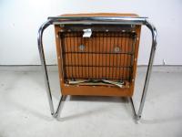 Mid Century Armless Chrome Chair | Chairish