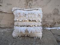 Moroccan Handira Wedding Blanket Throw Pillow   Chairish