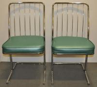 1950s Chrome & Vinyl Kitchen Chairs - Set of Four | Chairish