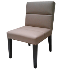 Segmented Leather Chair in Soft Sand | Chairish