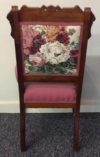 Victorian Eastlake Floral Side Chair   Chairish