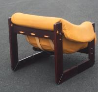 Lafer Mid-Century Modern Rosewood & Leather Club Chair ...