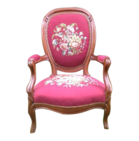 Antique Victorian Floral Needlepoint Chair   Chairish