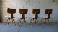 Mid-Century Modern Bentwood Dining Chairs - Set of 4 ...