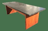 Mid-Century Teak With Slate Top Coffee Table | Chairish