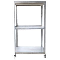 Industrial Metal Rolling Cart | Chairish