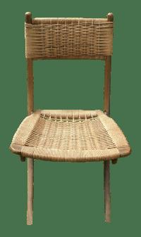Mid-Century Modern Wood & Woven Chair Yugoslavia | Chairish