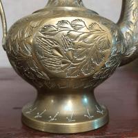 Antique Brass Genie Lamp Ewer   Chairish
