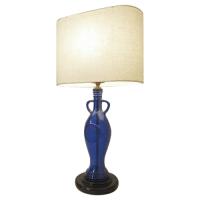 Custom Blue Bottle Table Lamp | Chairish