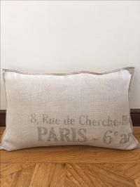 Restoration Hardware French Linen Pillow   Chairish