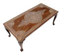 Vintage Bone Inlay Coffee Table | Chairish
