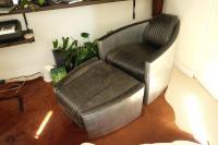 Restoration Hardware Italian Aviator Chair & Ottoman ...