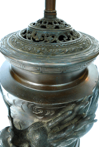 Bronze Dragon Urn Lamp | Chairish