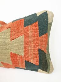 Vintage Kilim Lumbar Pillow | Chairish