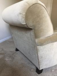 Restoration Hardware Classic Roll Arm Chairs & Ottoman ...