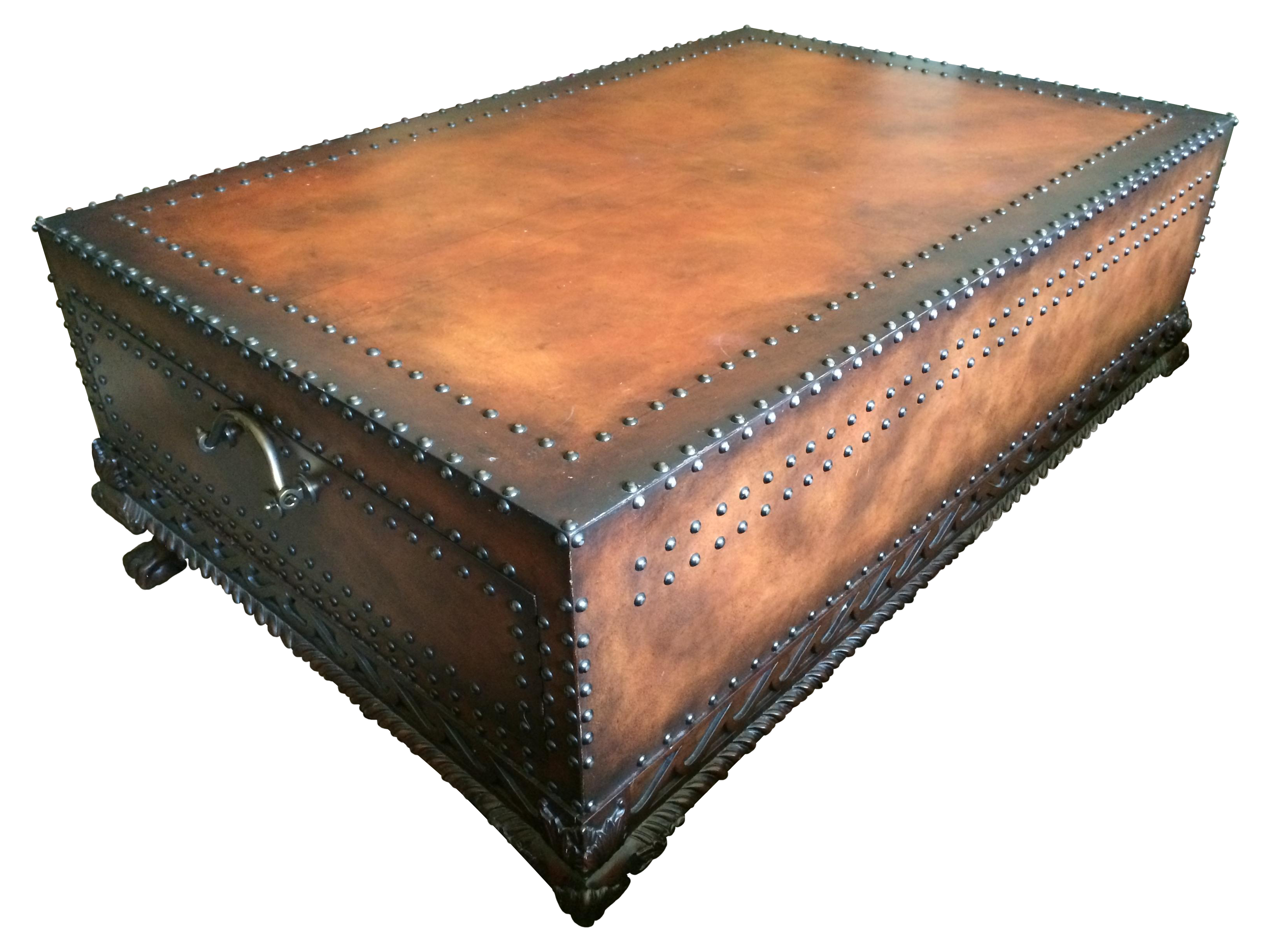 Ralph Lauren Leather Trunk Or Coffee Table Chairish