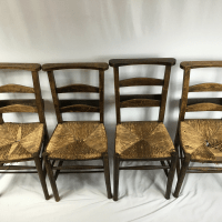 Antique Primitive Shaker Church Chairs - Set of 4 | Chairish