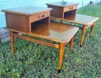 Mid-Century Lane Acclaim Step End Tables -- A Pair | Chairish
