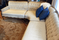 French Style Tufted Sectional Sofa | Chairish