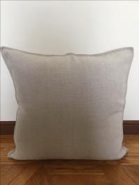 Restoration Hardware French Linen Throw Pillow   Chairish