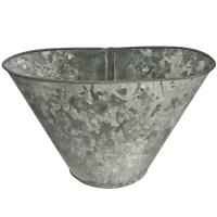 Galvanized Metal Storage Bin | Chairish